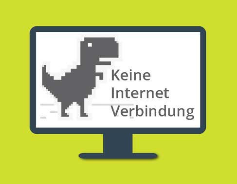 No Internet connection dino